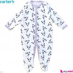 سرهمی کارترز پنبه ای نوزاد و کودک پاندا 6 ماه Carter's baby bodysuit