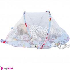 پشه بند تشک دار نوزاد و کودک مارک اسپرینگ آبی سگ Espring Baby mosquito net