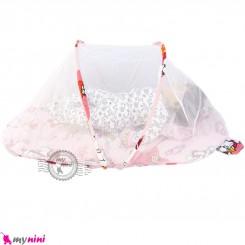 پشه بند تشک دار نوزاد و کودک مارک اسپرینگ صورتی گربه Espring Baby mosquito net