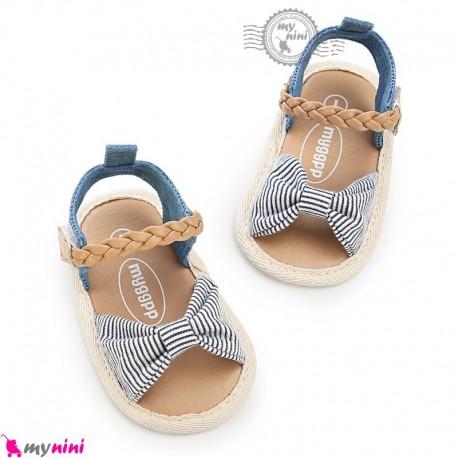 صندل دخترانه نوزاد و کودک استپ دار طرح پاپیون Baby girl footwear