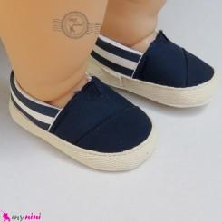 کفش نوزاد و کودک اسپرت سرمه ای استپ دار Baby footwear