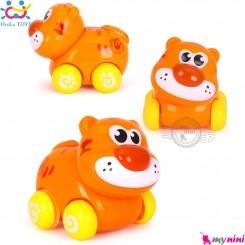 حیوانات هویلی تویز ببر و پاندا اسباب بازی نشکن Huile Toys animal cars