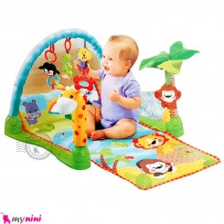 تشک بازی نوزاد و کودک میمون و زرافه موزیکال 3 حالته Baby girrafe play gym