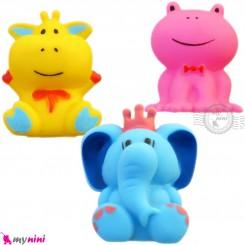 پوپت و اسباب بازی سوتی حمام نوزاد و کودک سایز بزرگ 3 عددی baby bath toys