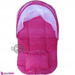 پشه بند نوزاد و کودک تشک دار مسافرتی سرخابی خالدار Espring Baby mosquito net