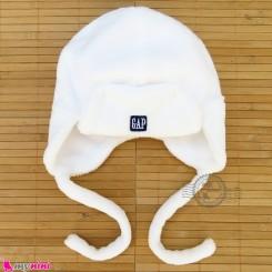 کلاه خز مخملی نوزاد و کودک گرم سفید Baby warm hats