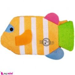 لیف عروسکی نوزاد و کودک ماهی نارنجی Bathing glove