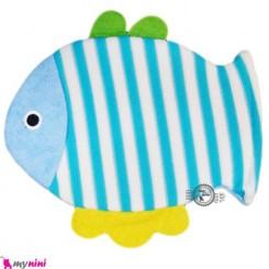 لیف عروسکی نوزاد و کودک ماهی آبی Bathing glove