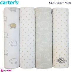خشک کن و روانداز نوزاد 4 عددی گوسفند کارترز Carter's