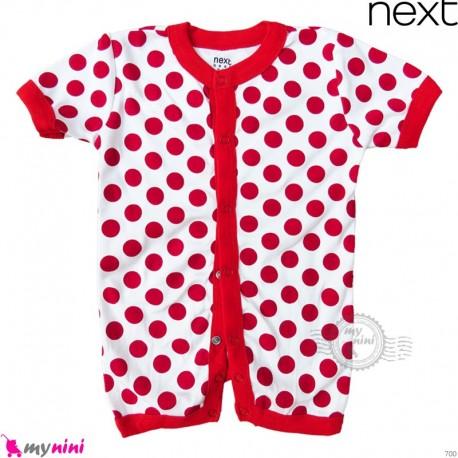 رامپرز بچه گانه مارک نکست نخ پنبه ای قرمز خالدار Next Baby rompers