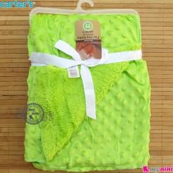 پتو کارترز نوزاد و کودک حباب دو لایه سبز Carter's baby fleece blanket