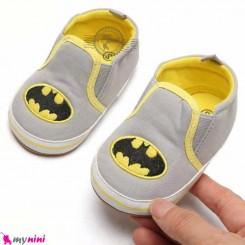 کفش نوزاد و کودک طوسی بت من استپ دار Baby footwear