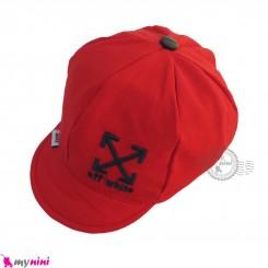 کلاه نقابدار بچه گانه اسپرت طرح ایکس قرمز baby cotton cap
