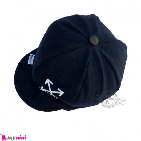 کلاه نقابدار بچه گانه اسپرت طرح ایکس سرمه ای baby cotton cap