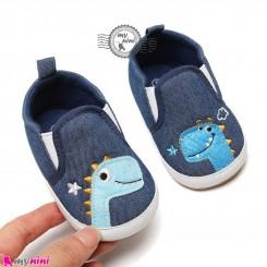 کفش نوزاد و کودک سرمه ای دایناسور استپ دار Baby footwear