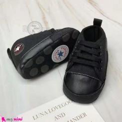 کفش مارک آل استار نوزاد و کودک مشکی baby first walking shoes