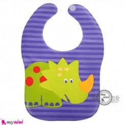 پیشبند نوزاد و کودک ضد لک دایناسور Baby cartoon waterproof bibs