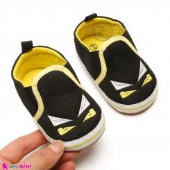 کفش نوزاد و کودک مشکی بت من استپ دار Baby first footwear