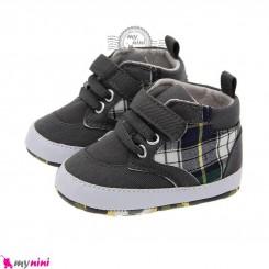 کفش ساق دار نوزاد و کودک طوسی استپ دار Baby footwear
