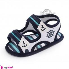 صندل نوزاد و کودک استپ دار طرح ملوان Baby boy footwear