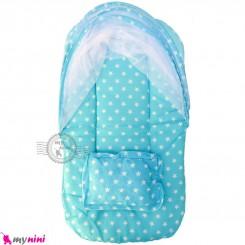 پشه بند نوزاد و کودک تشک دار مسافرتی آبی ستاره Baby mosquito net