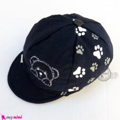 کلاه نقابدار بچه گانه اسپرت خرسی سرمه ای baby cotton cap