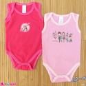 ست 2 عددی بادی رکابی نوزاد و کودک نخ پنبه ای 3 تا 6 ماه مارک baby bodysuits