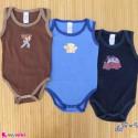 ست 3 عددی بادی رکابی نوزاد و کودک نخ پنبه ای 9 تا 12 ماه مارک baby bodysuits