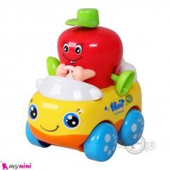ماشین میوه ای هویلی تویز قدرتی نشکن طرح سیب Huile Toys fruit car