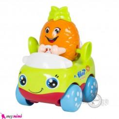 ماشین میوه ای هویلی تویز قدرتی نشکن طرح آناناس Huile Toys fruit car
