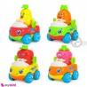 ماشین میوه ای هویلی تویز 4 عددی قدرتی نشکن Huile Toys fruit car