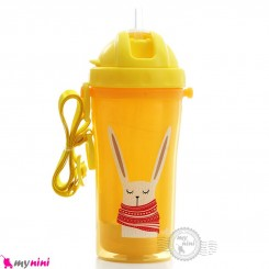 قمقمه سوپاپ دار ضدچکه 2 جداره نوزاد و کودک مارک ریکانگ زرد Rikang double insulation sippy cup