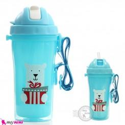 قمقمه سوپاپ دار ضدچکه 2 جداره نوزاد و کودک مارک ریکانگ آبی Rikang double insulation sippy cup