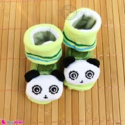 جوراب نوزاد عروسکی پاندا Baby cartoon socks