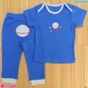 ست تیشرت و شلوار کارترز نخ پنبه ای آبی کیهان Carter's baby clothes set