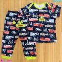 ست تیشرت و شلوار کارترز نخ پنبه ای سرمه ای ماشینها Carter's baby clothes set