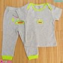 ست تیشرت و شلوار کارترز نخ پنبه ای  طوسی Carter's baby clothes set