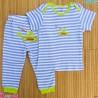 ست تیشرت و شلوار کارترز نخ پنبه ای راه راه آبی Carter's baby clothes set
