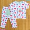 ست تیشرت و شلوار کارترز نخ پنبه ای قلبی اسب آبی Carter's baby clothes set