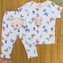 ست تیشرت و شلوار کارترز نخ پنبه ای پروانه و خرس Carter's baby clothes set
