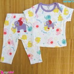 ست تیشرت و شلوار کارترز نخ پنبه ای فیل Carter's baby clothes set