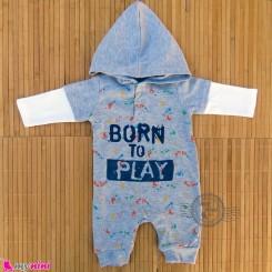 سرهمی کلاهدار نوزاد و کودک مارک اورجینال آکرمانز Ackermans baby bodysuit