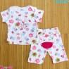 ست تیشرت و شلوارک کارترز نخ پنبه ای 6 تا 9 ماه صورتی حیوانات Carter's baby clothes set