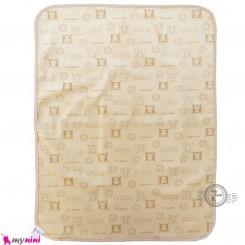 زیرانداز تعویض نوزاد مخملی نایلونی دو رو نسکافه ای newborn fleece changing mat