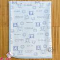 زیرانداز تعویض نوزاد مخملی نایلونی دو رو آبی newborn fleece changing mat