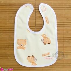 پیشبند نوزاد و کودک مخمل ضدآب خرس و سگ لیمویی baby fleece Bib