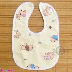 پیشبند نوزاد و کودک مخمل ضدآب زرد سگ baby fleece Bib