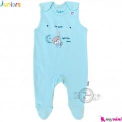 اورال نوزاد و کودک نخ پنبه ای جونیورز آبی خرس Juniors baby overall