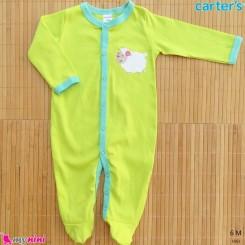 لباس سرهمی کارترز نخ پنبه ای 6 ماه Carter's baby sleepsuit