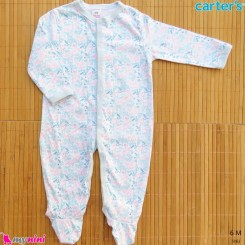 لباس سرهمی کارترز نخ پنبه ای 6 ماه طرح پاریس Carter's baby sleepsuit